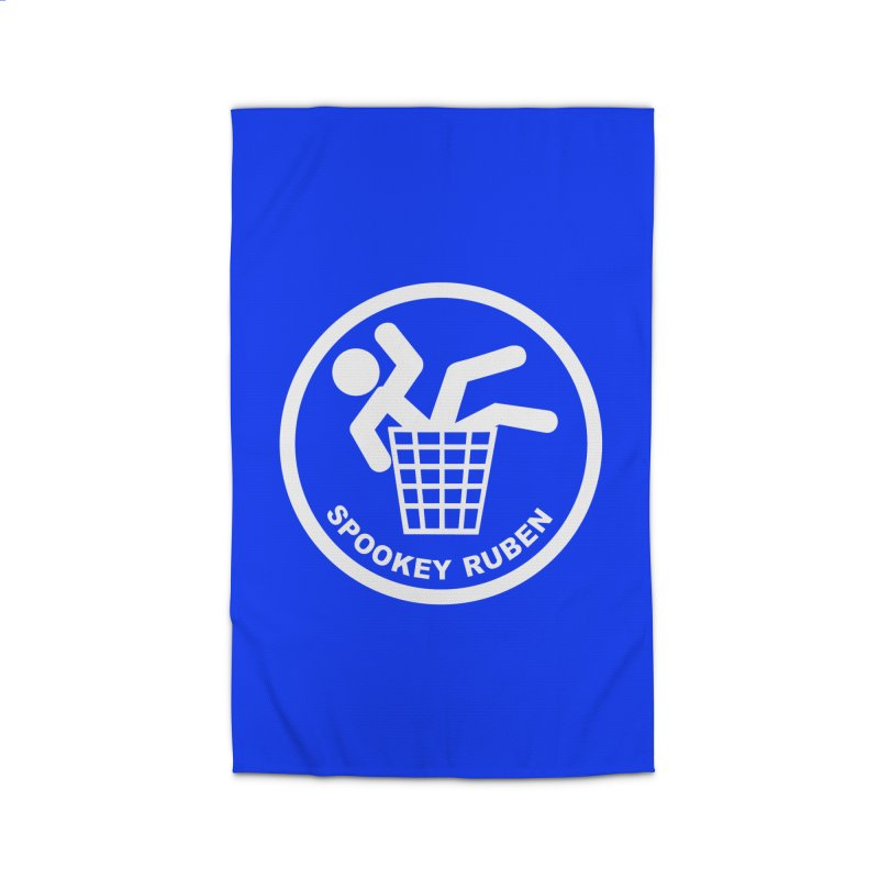 """Spookey Classic """"Man in the Trash' Logo Home Rug by Spookey Ruben Clothing Store"""