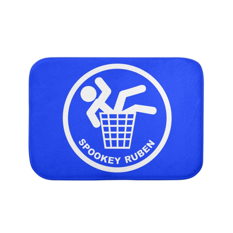 "Spookey Classic ""Man in the Trash' Logo Home Bath Mat by Spookey Ruben Clothing Store"