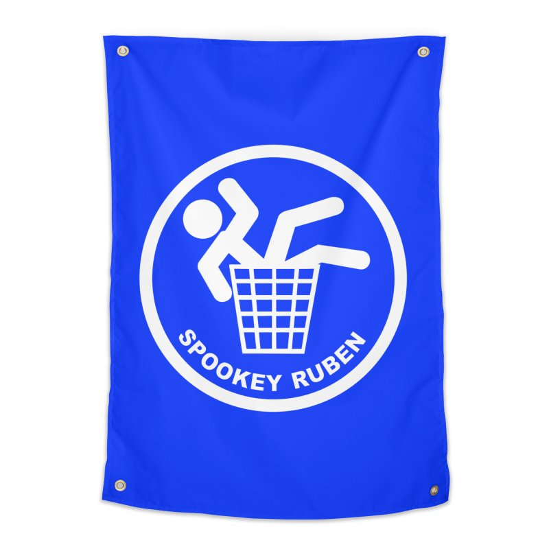 """Spookey Classic """"Man in the Trash' Logo Home Tapestry by Spookey Ruben Clothing Store"""