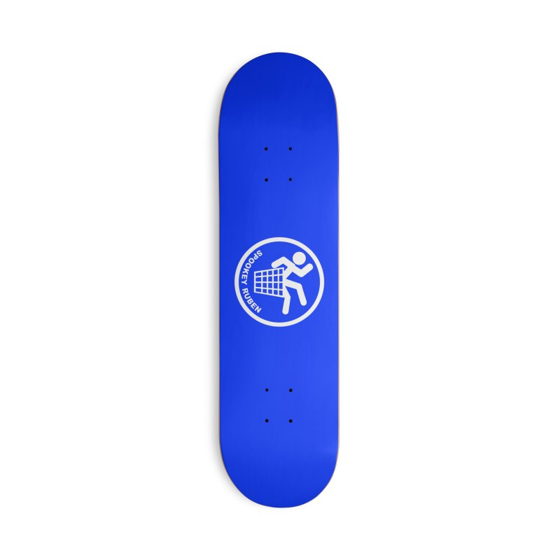 """Spookey Classic """"Man in the Trash' Logo Accessories Skateboard by Spookey Ruben Clothing Store"""