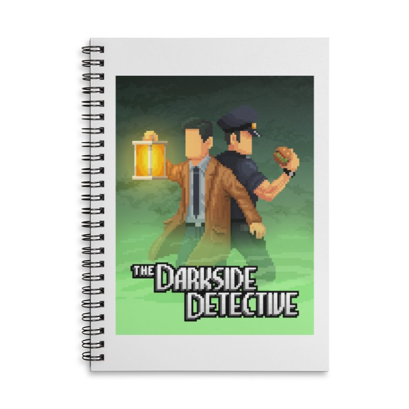The Darkside Detective Special Edition Accessories Lined Spiral Notebook by Spooky Doorway's Merch Shop