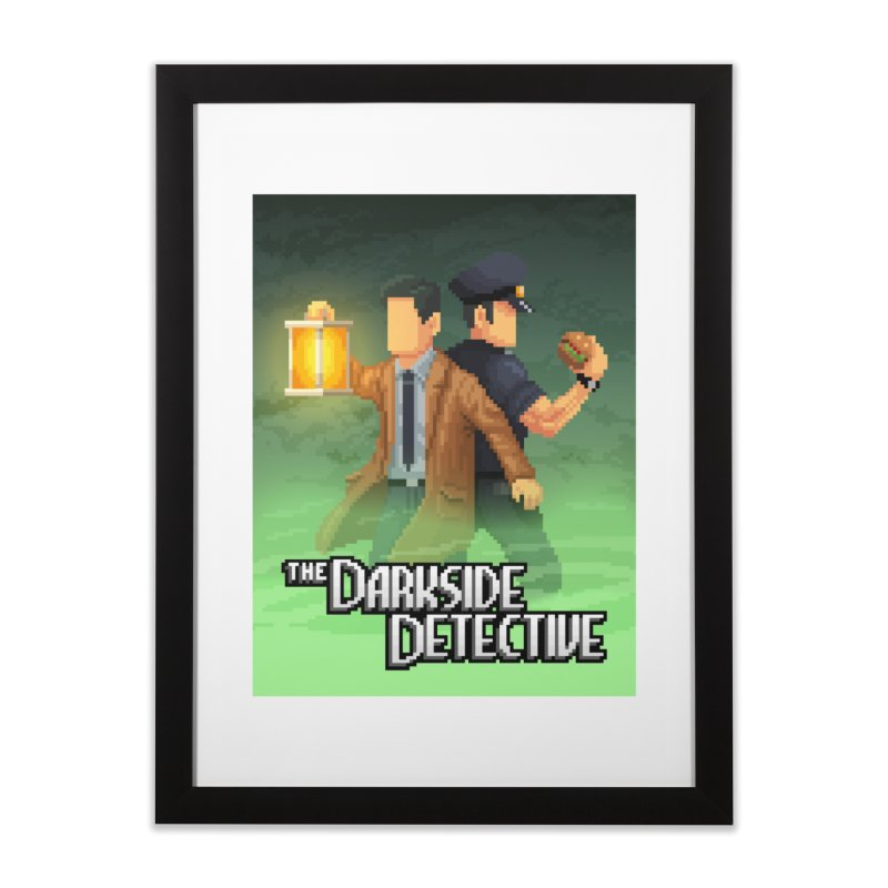 The Darkside Detective Special Edition Home Framed Fine Art Print by Spooky Doorway's Merch Shop