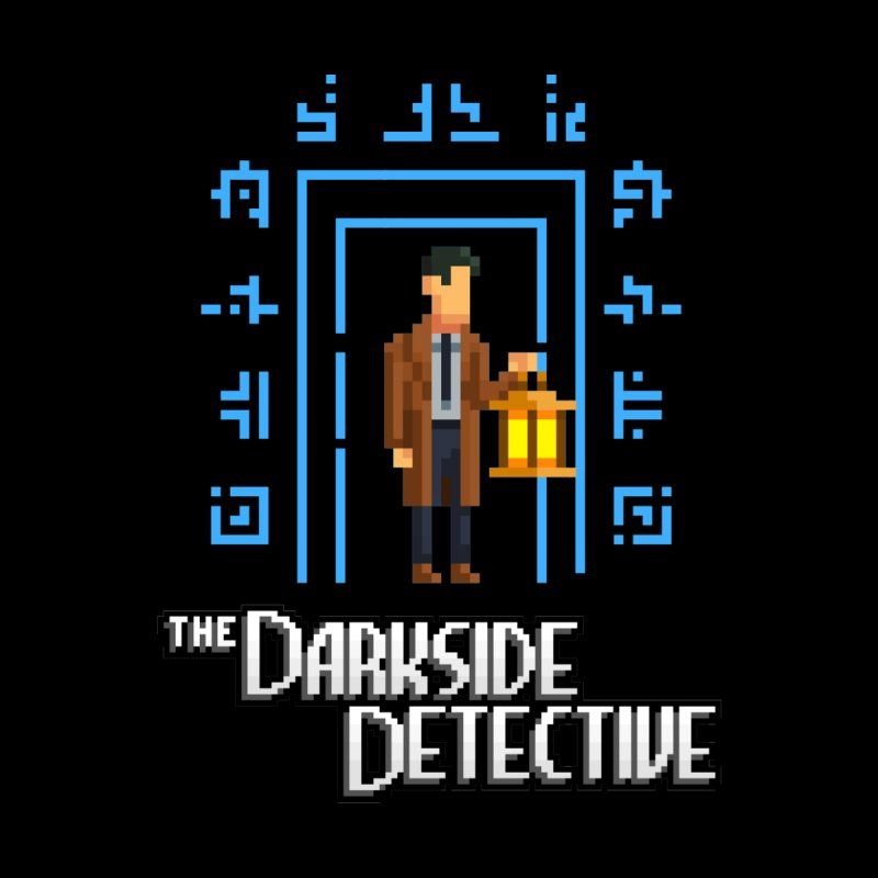 The Darkside Detective Accessories Zip Pouch by Spooky Doorway's Merch Shop