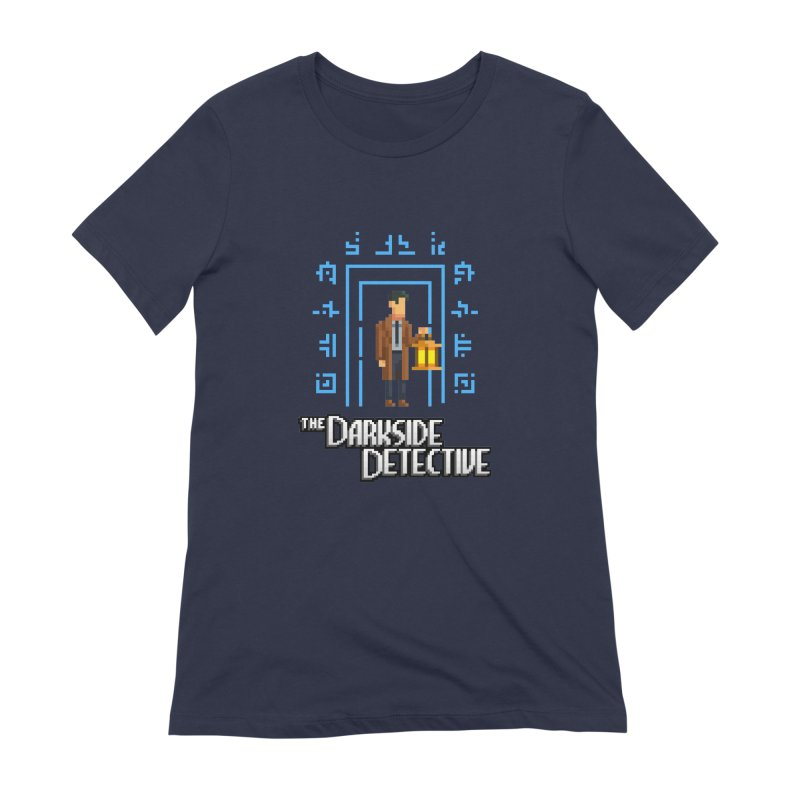 The Darkside Detective Women's Extra Soft T-Shirt by Spooky Doorway's Merch Shop