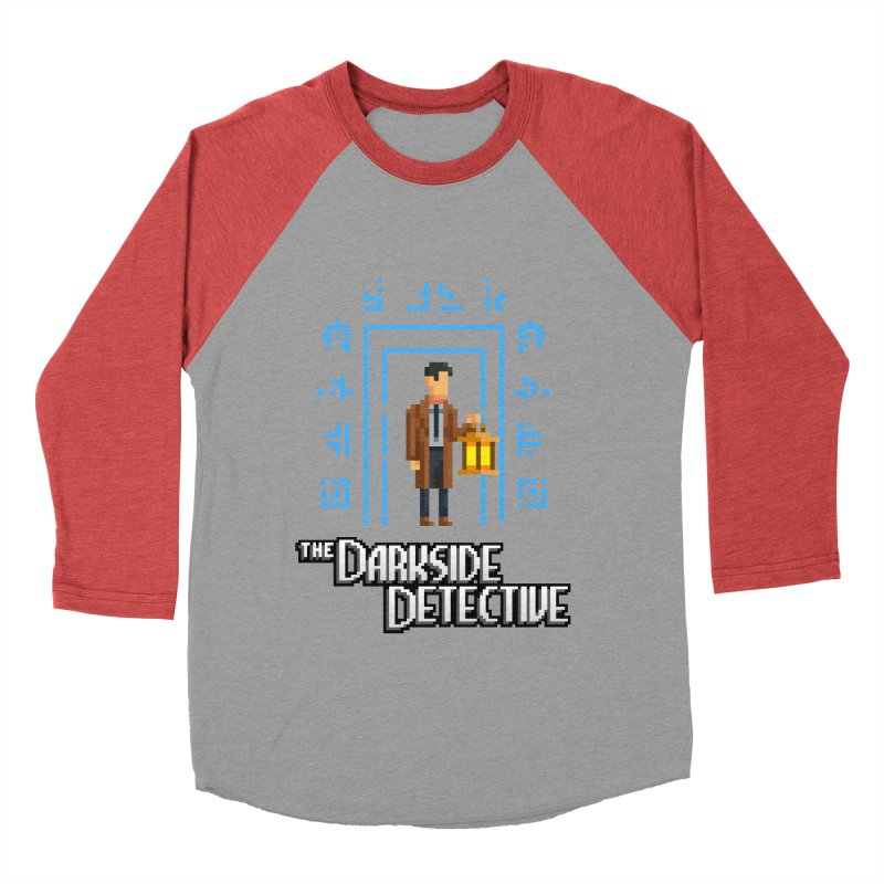 The Darkside Detective Men's Baseball Triblend Longsleeve T-Shirt by Spooky Doorway's Merch Shop