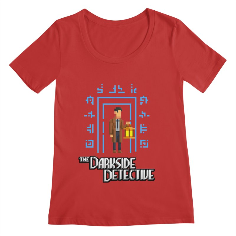 The Darkside Detective Women's Regular Scoop Neck by Spooky Doorway's Merch Shop