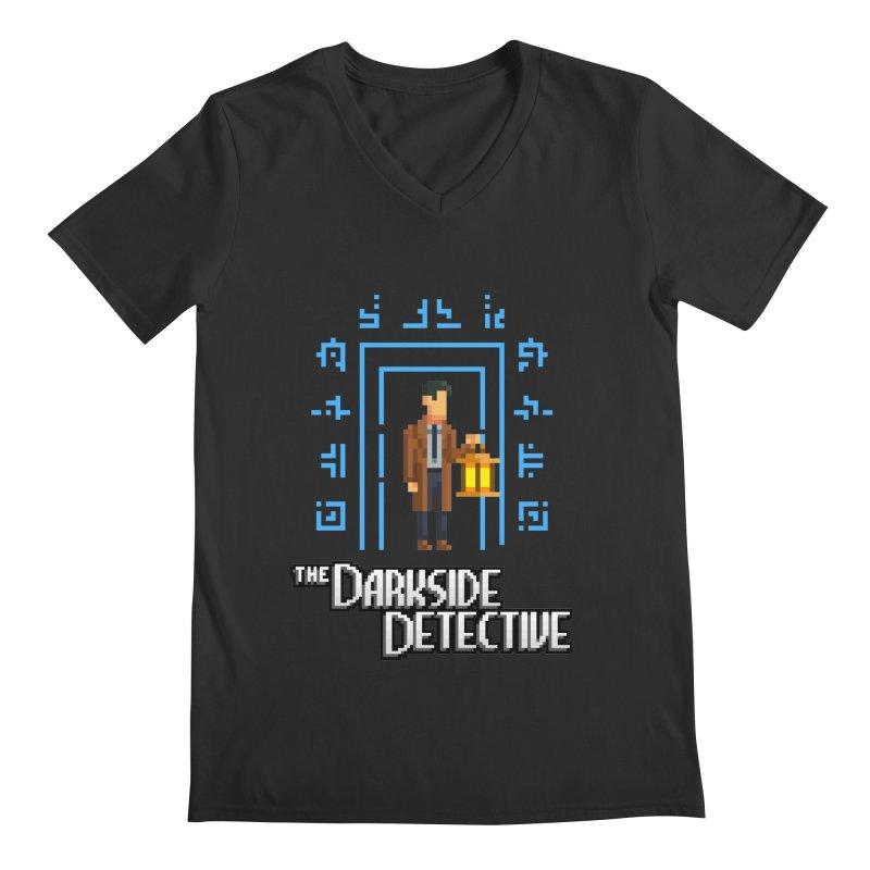The Darkside Detective Men's Regular V-Neck by Spooky Doorway's Merch Shop