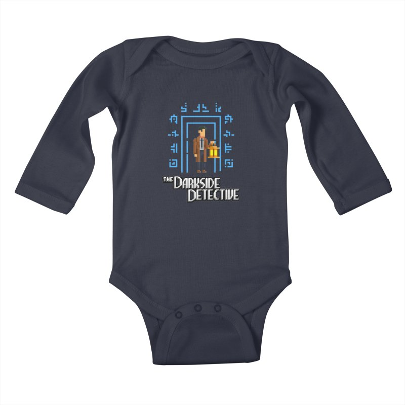 The Darkside Detective Kids Baby Longsleeve Bodysuit by Spooky Doorway's Merch Shop