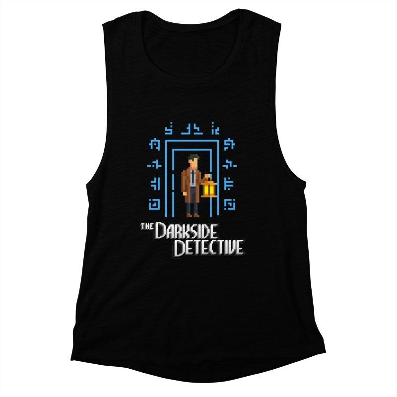 The Darkside Detective Women's Muscle Tank by Spooky Doorway's Merch Shop