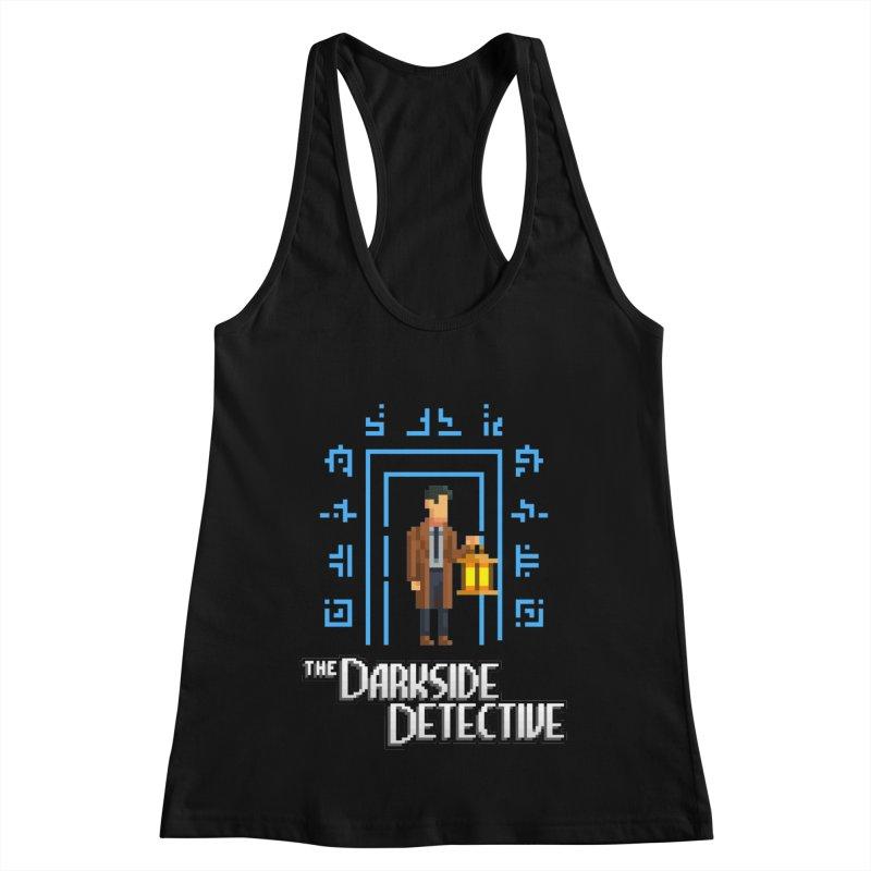 The Darkside Detective Women's Racerback Tank by Spooky Doorway's Merch Shop