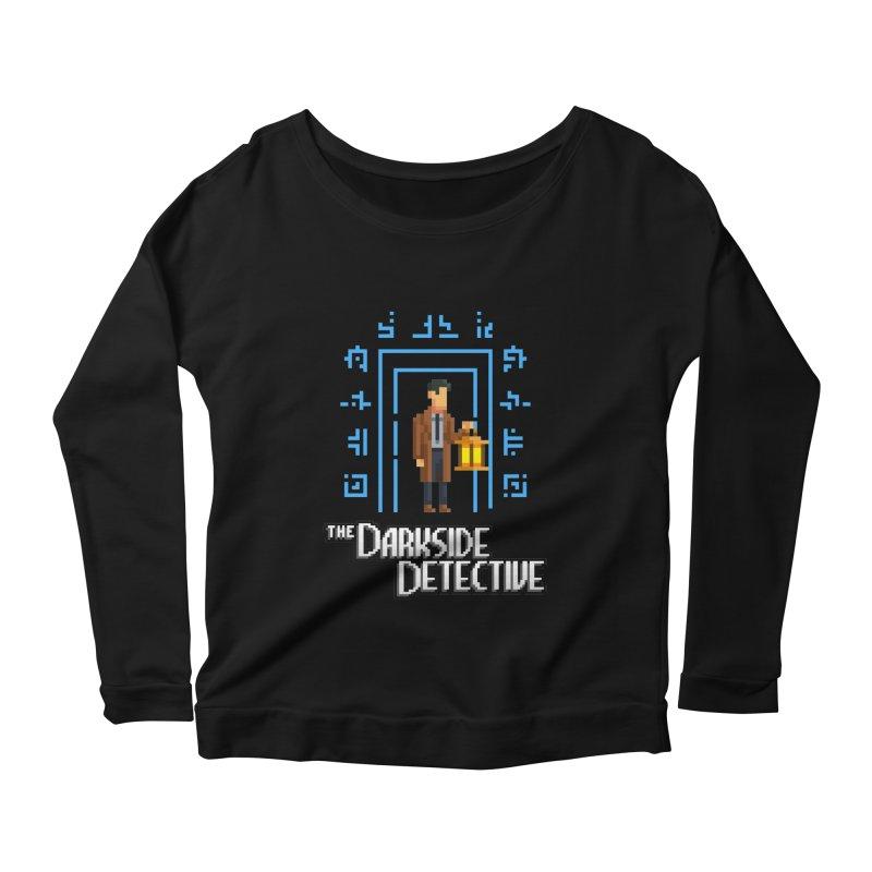 The Darkside Detective Women's Scoop Neck Longsleeve T-Shirt by Spooky Doorway's Merch Shop