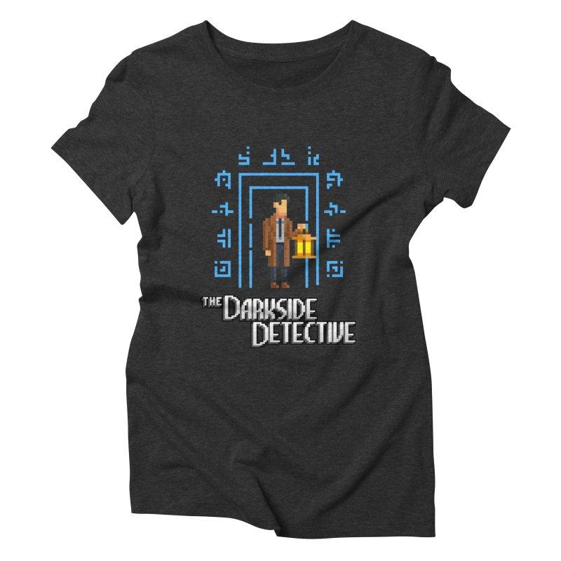 The Darkside Detective Women's Triblend T-Shirt by Spooky Doorway's Merch Shop