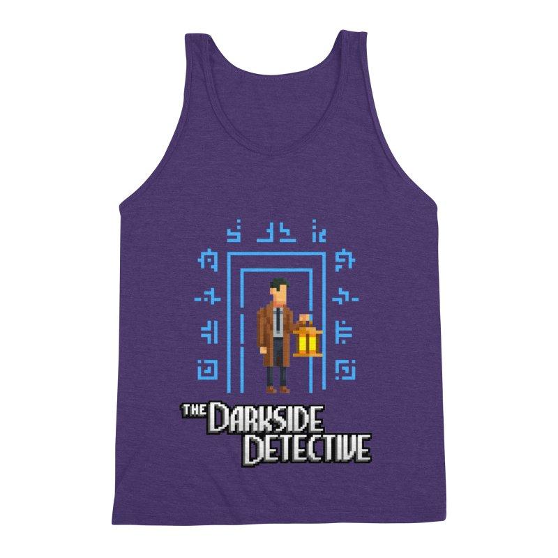 The Darkside Detective Men's Triblend Tank by Spooky Doorway's Merch Shop