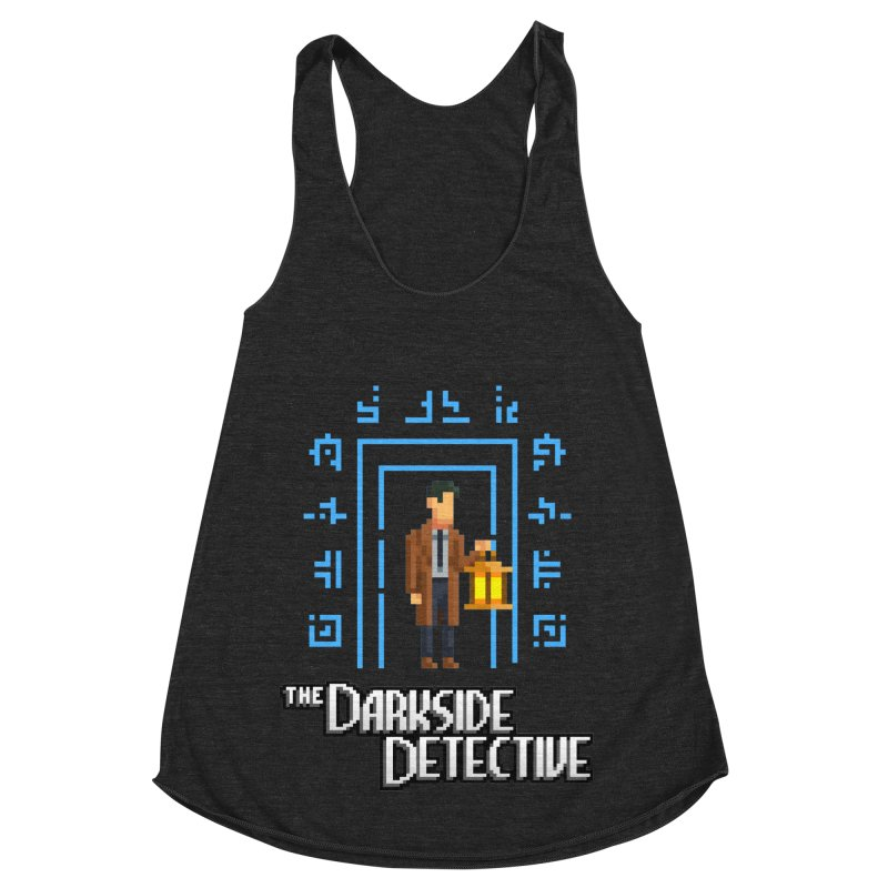 The Darkside Detective Women's Racerback Triblend Tank by Spooky Doorway's Merch Shop