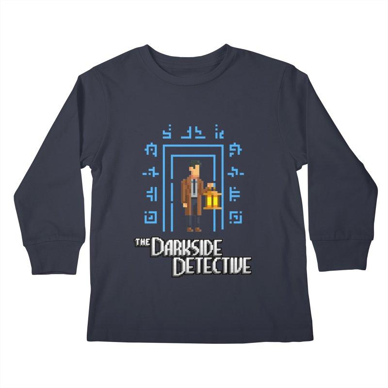 The Darkside Detective Kids Longsleeve T-Shirt by Spooky Doorway's Merch Shop
