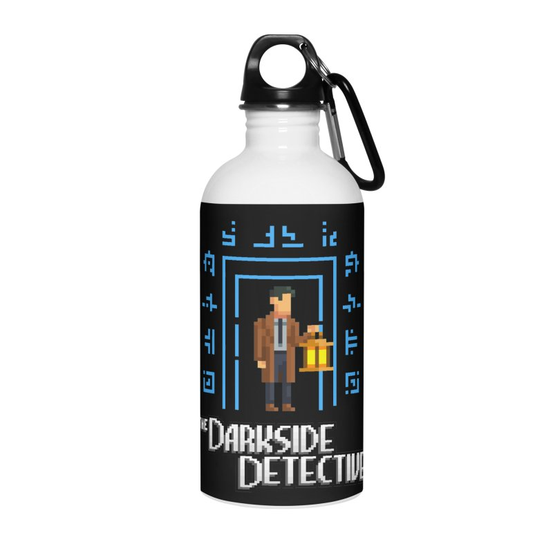The Darkside Detective Accessories Water Bottle by Spooky Doorway's Merch Shop