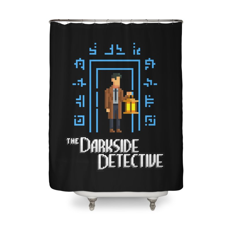 The Darkside Detective Home Shower Curtain by Spooky Doorway's Merch Shop