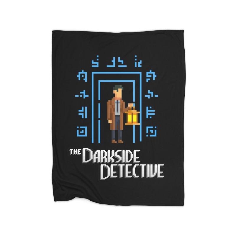 The Darkside Detective Home Fleece Blanket Blanket by Spooky Doorway's Merch Shop