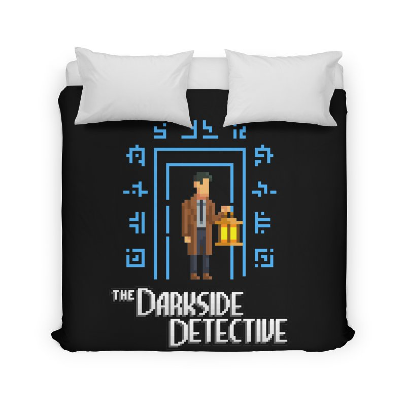 The Darkside Detective Home Duvet by Spooky Doorway's Merch Shop