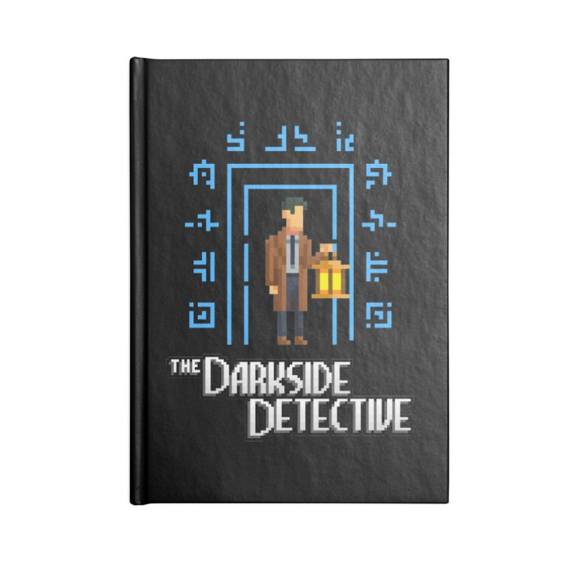 The Darkside Detective Accessories Lined Journal Notebook by Spooky Doorway's Merch Shop
