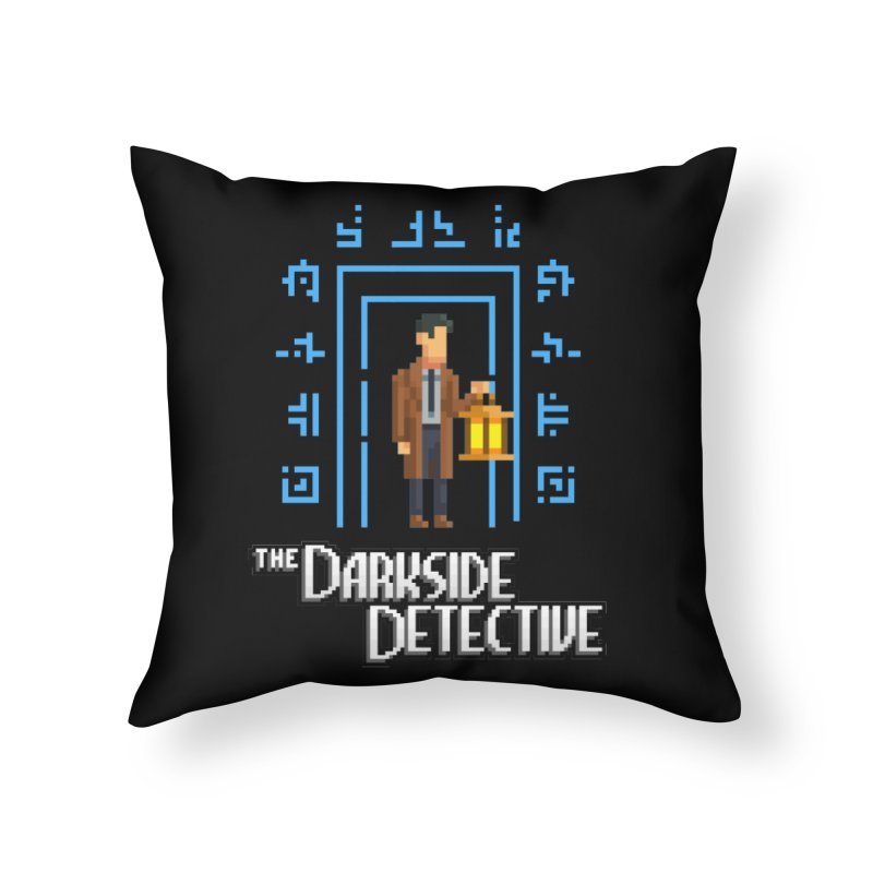 The Darkside Detective Home Throw Pillow by Spooky Doorway's Merch Shop