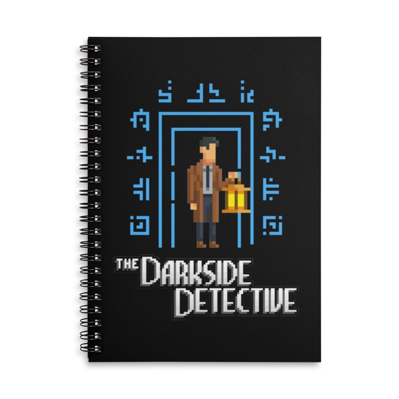 The Darkside Detective Accessories Lined Spiral Notebook by Spooky Doorway's Merch Shop