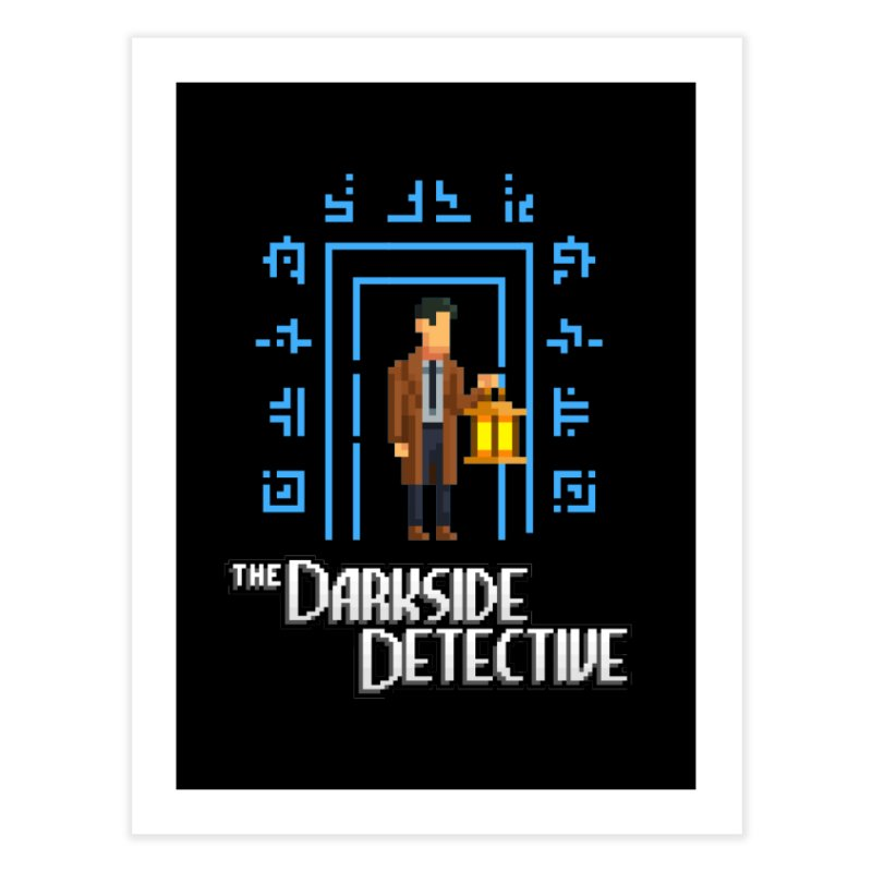 The Darkside Detective Home Fine Art Print by Spooky Doorway's Merch Shop