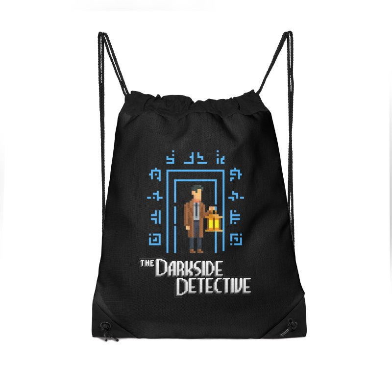 The Darkside Detective Accessories Drawstring Bag Bag by Spooky Doorway's Merch Shop