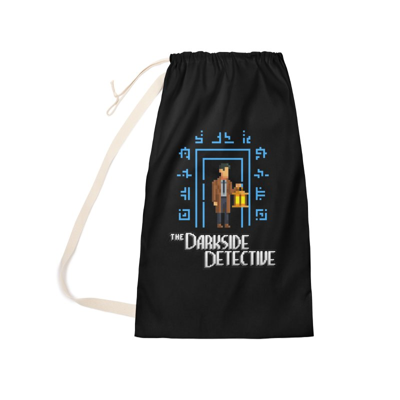 The Darkside Detective Accessories Laundry Bag Bag by Spooky Doorway's Merch Shop