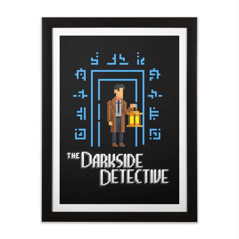 The Darkside Detective Home Framed Fine Art Print by Spooky Doorway's Merch Shop