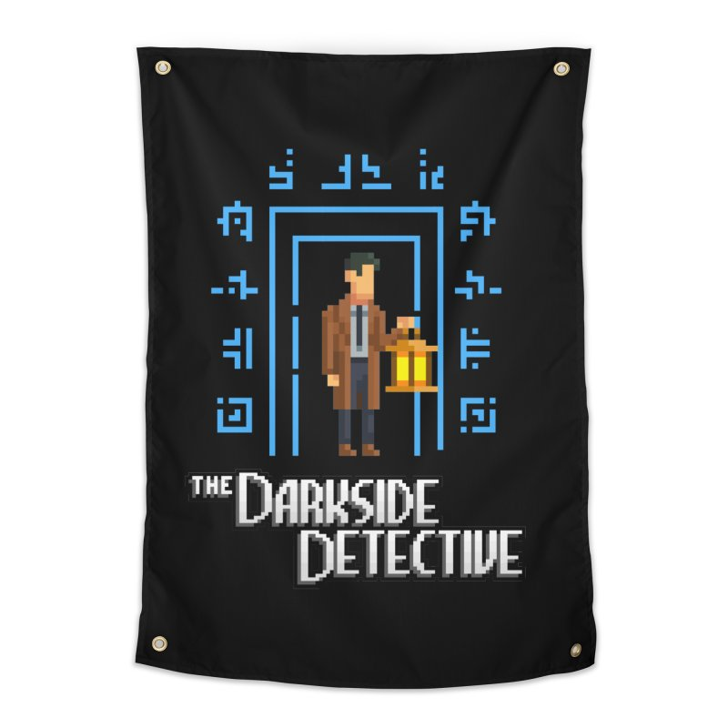 The Darkside Detective Home Tapestry by Spooky Doorway's Merch Shop