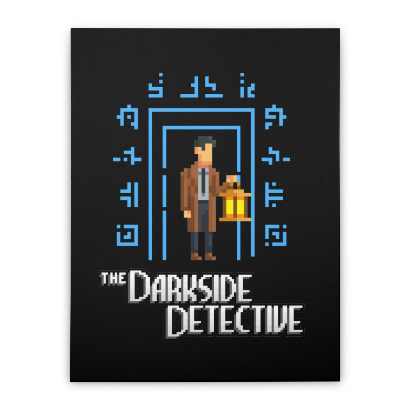 The Darkside Detective Home Stretched Canvas by Spooky Doorway's Merch Shop