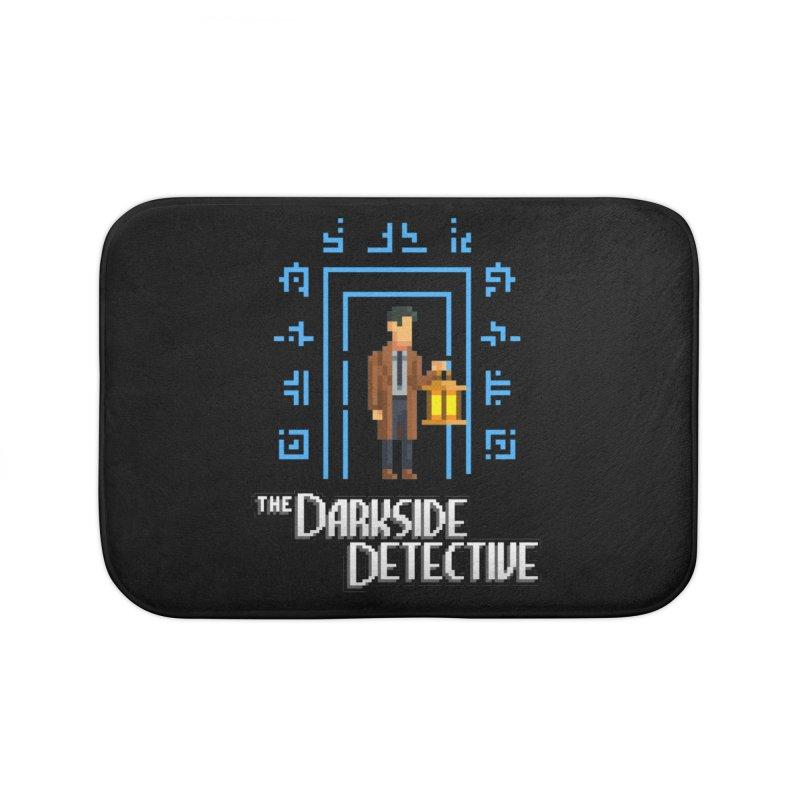 The Darkside Detective Home Bath Mat by Spooky Doorway's Merch Shop