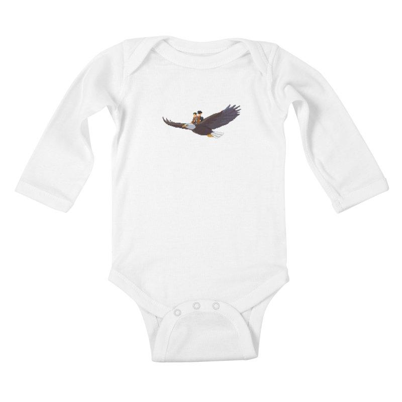 Detect From Above Kids Baby Longsleeve Bodysuit by Spooky Doorway's Merch Shop