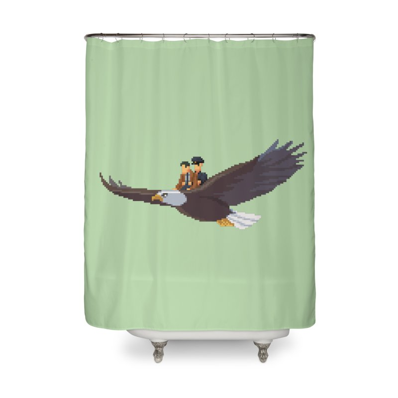 Detect From Above Home Shower Curtain by Spooky Doorway's Merch Shop