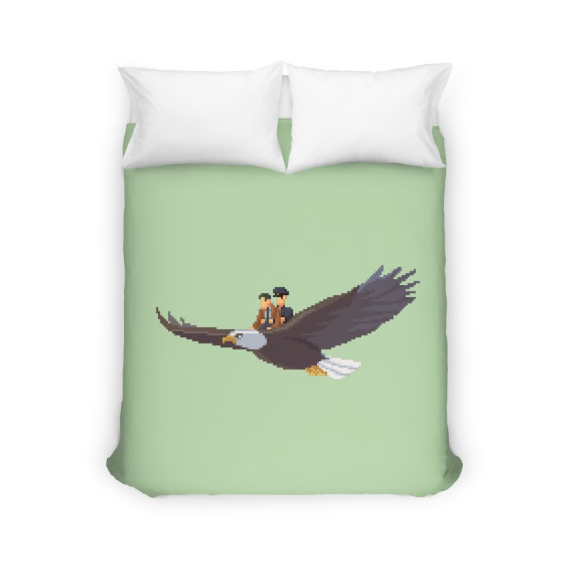 Detect From Above Home Duvet by Spooky Doorway's Merch Shop