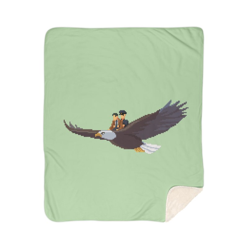 Detect From Above Home Sherpa Blanket Blanket by Spooky Doorway's Merch Shop
