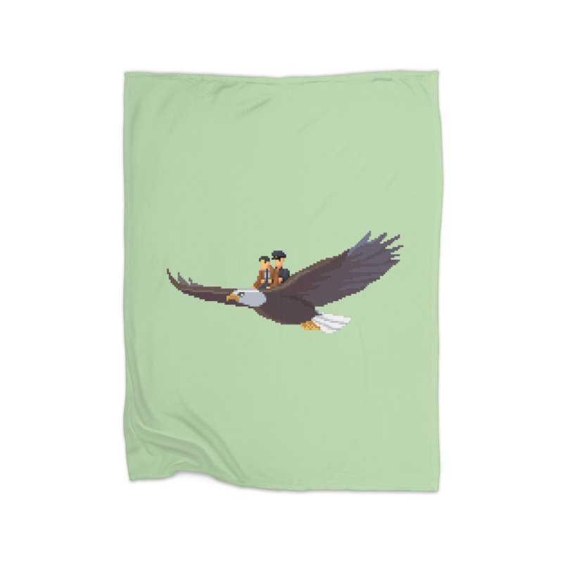 Detect From Above Home Fleece Blanket Blanket by Spooky Doorway's Merch Shop