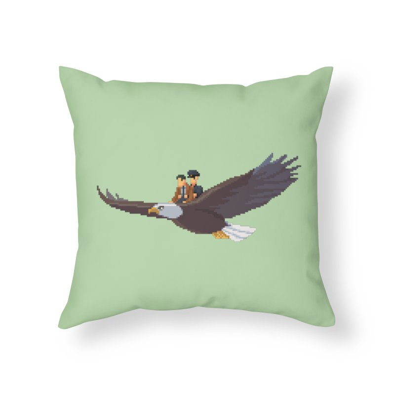 Detect From Above Home Throw Pillow by Spooky Doorway's Merch Shop