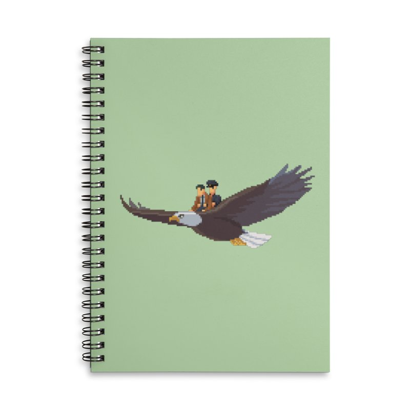 Detect From Above Accessories Lined Spiral Notebook by Spooky Doorway's Merch Shop