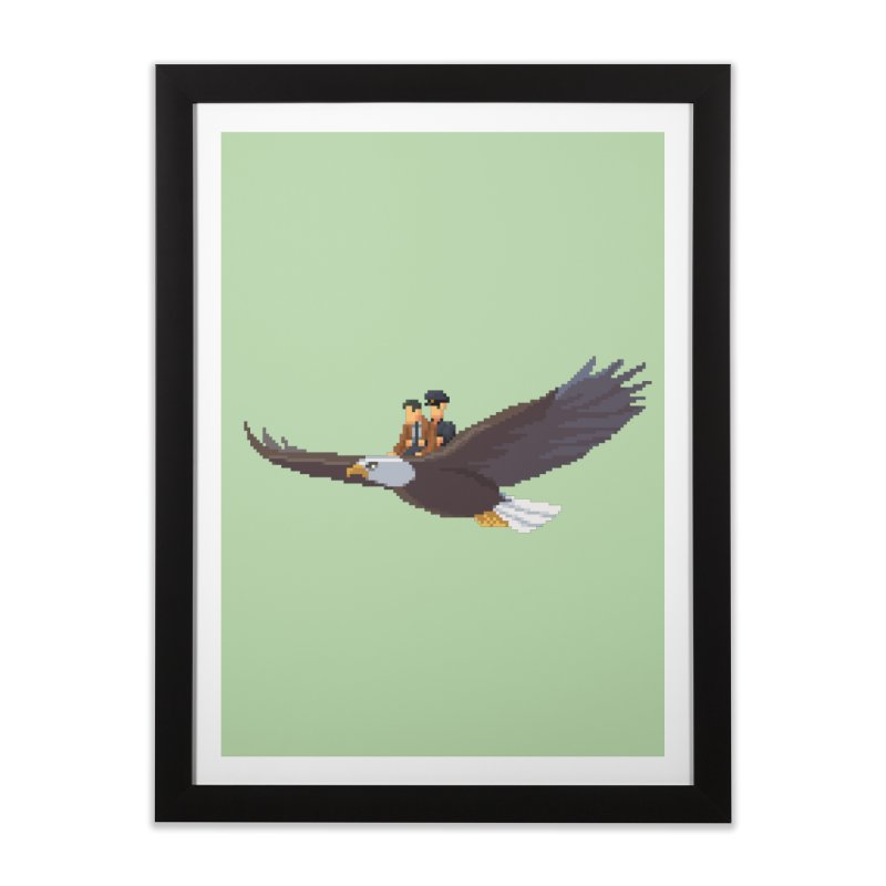 Detect From Above Home Framed Fine Art Print by Spooky Doorway's Merch Shop