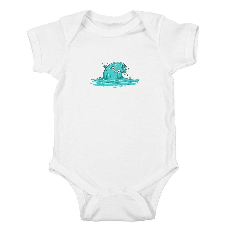 Waving Kids Baby Bodysuit by spookylili