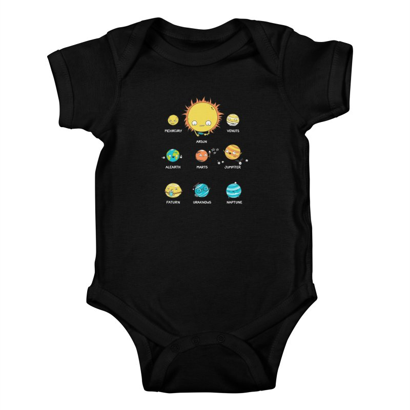 A Big Crazy Family Kids Baby Bodysuit by spookylili