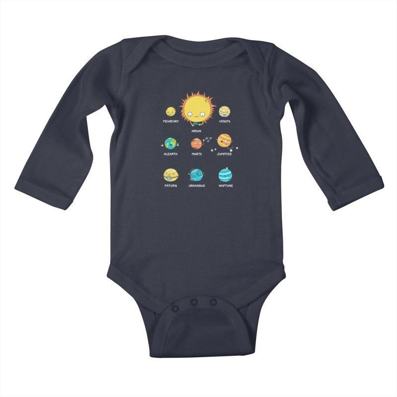 A Big Crazy Family Kids Baby Longsleeve Bodysuit by spookylili