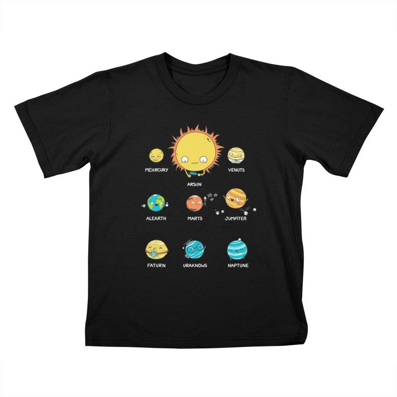 A Big Crazy Family Kids T-Shirt by spookylili