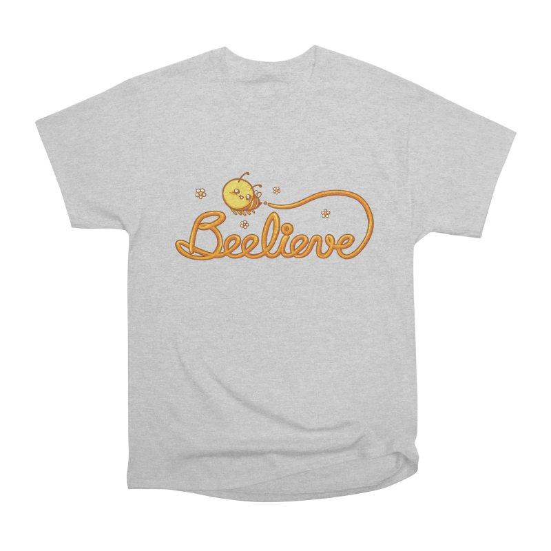Beelieve Men's Heavyweight T-Shirt by spookylili