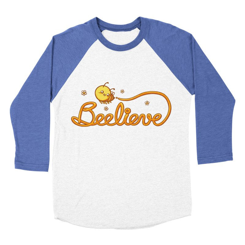 Beelieve Women's Baseball Triblend Longsleeve T-Shirt by spookylili