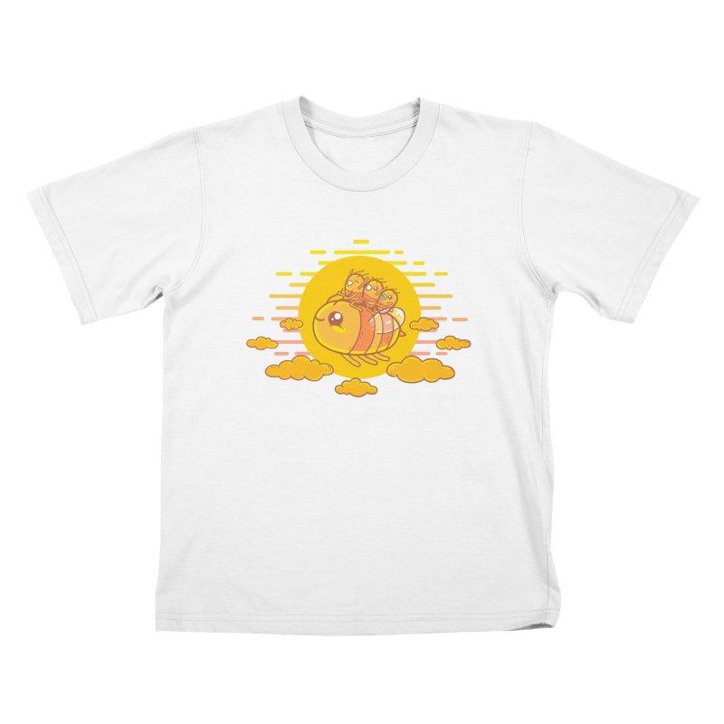 Bee Ride Kids T-Shirt by spookylili