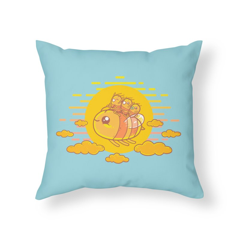 Bee Ride Home Throw Pillow by spookylili