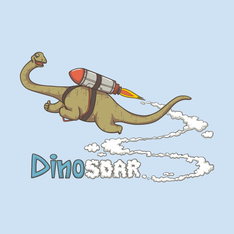 Dinosoar Women's V-Neck by spookylili